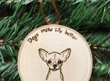 Chihuahua Christmas Ornament, Chihuahua Dog Decor