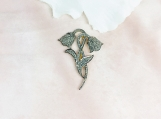 Diamond Sterling Silver Brooch