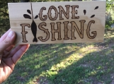 Fishing Wood Sign, Gone Fishing Sign, Fishing Lover Gift