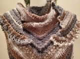 Handmade crochet triangle body wrap