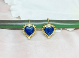 Lapis Lazuli & Pearl Vermeil Over Sterling Silver Earring