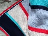 Nautical cotton blanket for a boy, boy bedroom bedding