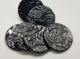 Set of 6 Black Coasters