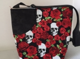 Skulls and Roses Cross Body Bag