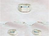 Sterling Silver Filigree Signet Ring