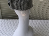 Womens Knitted Ear Warmer/Headband - Light Grey