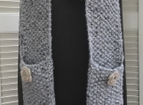 Women's Pocket Scarf - Light Grey Tweed
