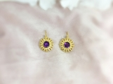 Amethyst & Pearl Vermeil 14K Gold Over Sterling Silver Earring