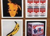 60s Pop Art  Warhol  Image Tile Drink Coasters Four Piece Set