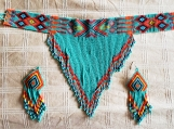 BeadedJewelry Set - Chocker & Earrings (Indigenous)