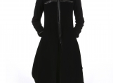 Black Cashmere Coat / Paradox / Fitted Coat / Zipper Coat PC0017