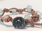 Bottom of the Sea Bracelet with Indonesian Sea Glass