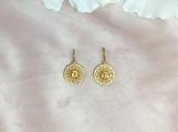 Citrine Vermeil 14K Gold Over Sterling Silver Enamelled Earring
