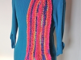 Colorful knitted chunky long fringed wool winter scarf for woman