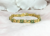 Emerald Vermeil 14K Gold Over Sterling Silver Bracelet