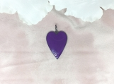 Enamelled & Oxidised Sterling Silver Heart Pendant