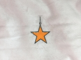 Enamelled & Oxidised Sterling Silver Star Pendant