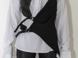 Faux Leather Vest / Extravagant Vest / Black Vest PC0014