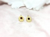 Garnet Vermeil 14K Gold Over Sterling Silver Earring