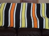Halloween couch blanket, living room throw, yellow orange white