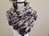 Handmade crocheted neck cowl