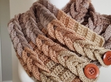 Handmade crocheted neck cowl-custom made