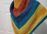 Handmade crocheted triangle shawl