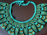 Mayan Style Beaded Turquoise Chocker (Indigenous Jewelry)