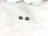 Onyx Oxidised Sterling Silver 10MM Spacer