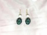 Pearl, Diamond & Onyx Sterling Silver Earring