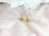 Peridot & Pearl Vermeil 14K Gold Over Sterling Silver Earring