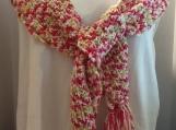 Pink Handmade Crochet Scarf