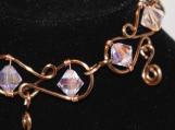 Pink Swarovski Crystal Wire Bracelet