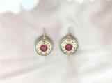 Ruby & Diamond Sterling Silver Earring
