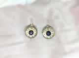 Sapphire & Diamond Sterling Silver Earring