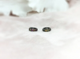 Sapphire Oxidised Sterling Silver 10MM Spacer