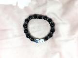 Spinel Oxidised Sterling Silver Spacer & Beads Bracelet