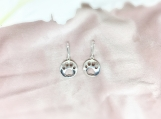 Sterling Silver Dog Paw Charm Earring