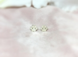 Sterling Silver Dog Paw Charm Stud Earring