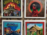 The Grateful Dead Tile Drink Coasters 4 piece  Set
