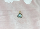 Topaz & Diamond Sterling Silver Pendant