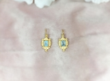 Topaz & Pearl Vermeil 14K Gold Over Sterling Silver Earring