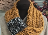Womens Mobius Scarf - Butterscotch with Pull Through Loop