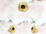 Amethyst & Emerald Vermeil 14K Gold Over Sterling Silver Ring