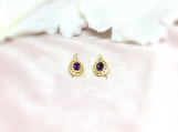 Amethyst Vermeil 14K Gold Over Sterling Silver Earring