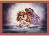 Angel In The Clouds Cross Stitch Pattern