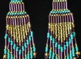 Beaded earrings, Mayan Indigenous style.