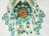 Beaded turquoise necklaces Mayan Style (Indigenous Jewelry)