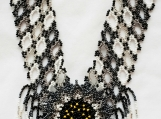 Beaded white, black necklaces Mayan Style (Indigenous Jewelry)