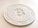 Bitcoin Cryptocurrency Themed Drink Coaster